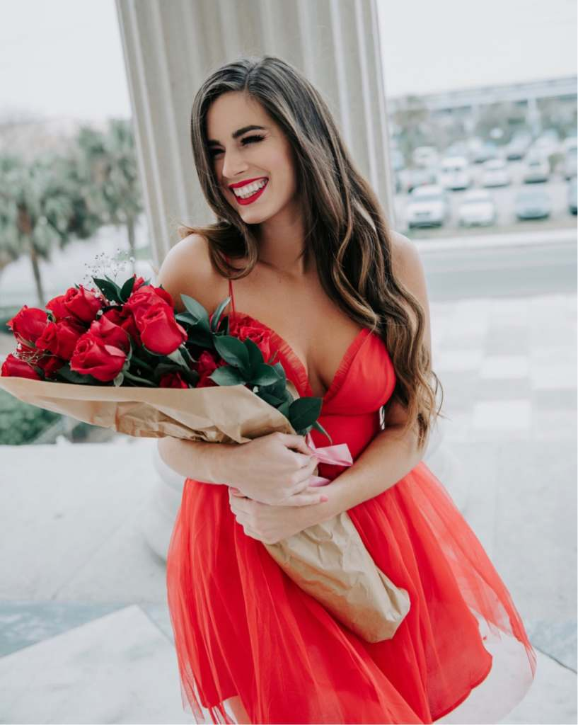 Red Hot Date Night Dress - By, Hilary Rose